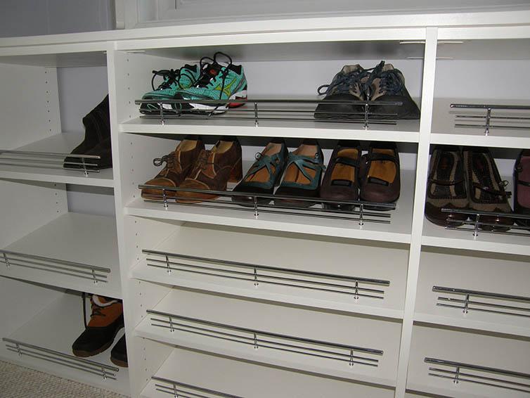 Shoe storage and organization for custom closet in Minneapolis & St. Paul