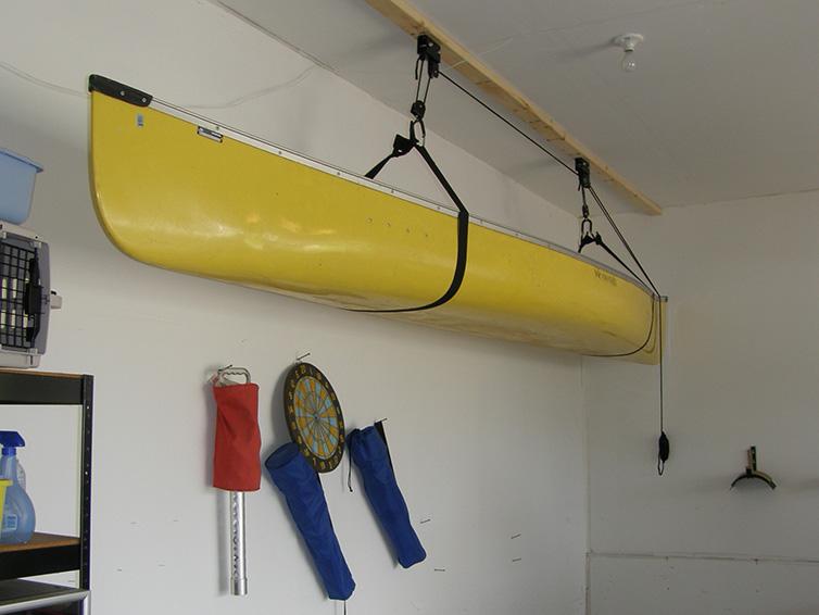 Garage Canoe Hoist