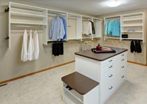 Walk-in closet - island detail