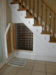 home wine cellar and wine racking