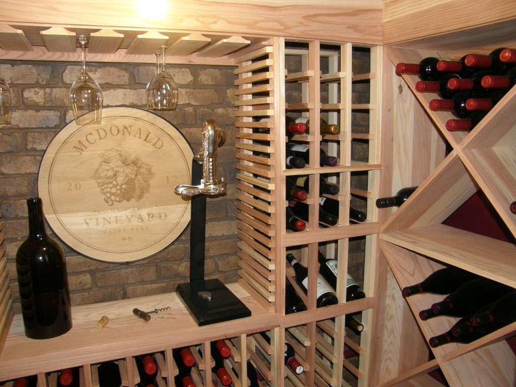 wine cellar and wine racking