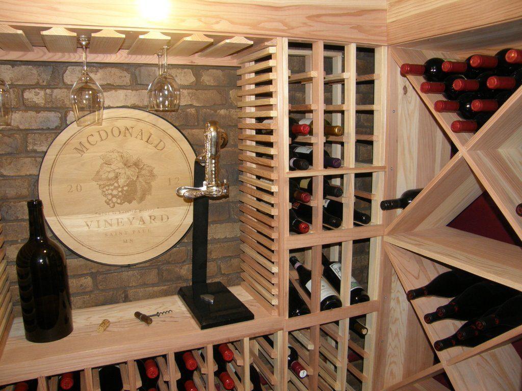 wine cellar and wine racking
