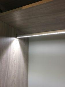 Delightful LED Illuminated Closet LED Closet Rod ...