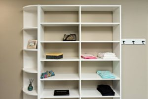 Walk-in Closet Shelving and Hooks
