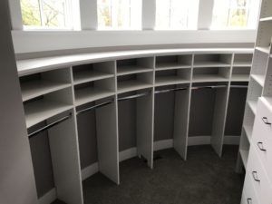 Challenging Curved Wall Closet Design