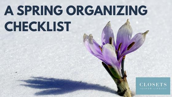 Spring Organizing Checklist Minnesota