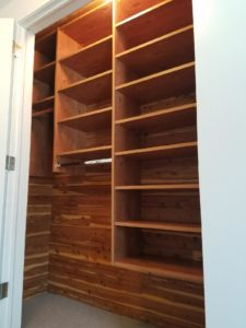 Wood Accent Wall Closet