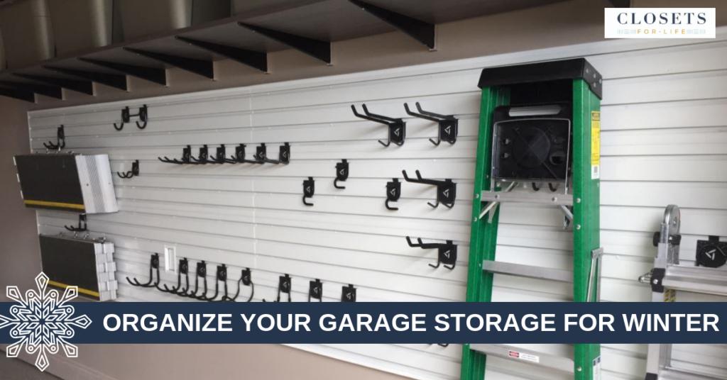 organize your garage storage for winter blog header