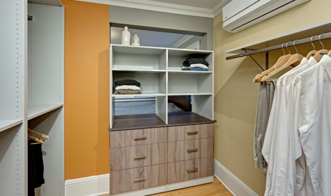 Minneapolis Custom Walk-in Closet Back to back unit and closet SMALL