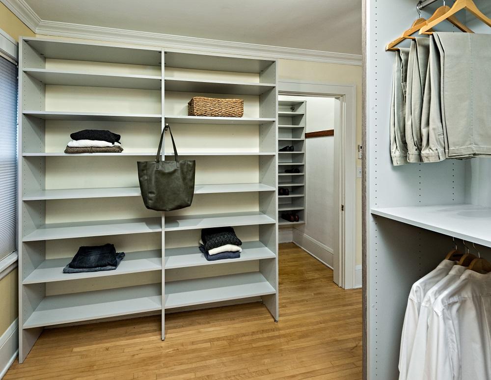 Minneapolis Custom Walk-in Closet - Closet shelving unit SMALL