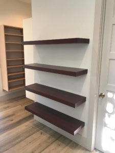 Floating shelved in custom closet
