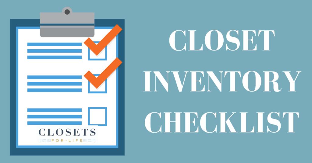Closet Inventory Checklist