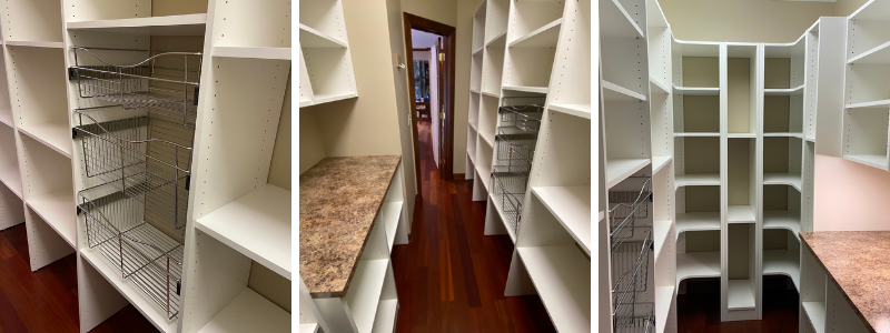 Kitchen Pantry Shelves and Storage - June